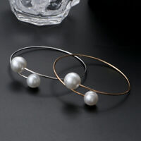 New Simple Pearl Bangle Cuff Open Bracelet Women Charm Charm Jewelry Gifts