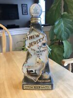 Vintage Jim Beam Gilbey's Scotch Whiskey New Jersey The Garden State Decanter