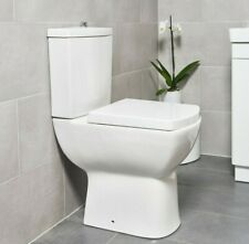 Modern Square Ceramic Toilet Close Coupled Bathroom Pan & Seat WC (1014)