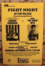 Boxing Poster: George Foreman v Bobby Hitz 1988 Palace of Auburn Hills
