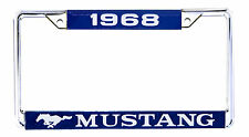 1968 Ford Mustang License Plate Frame  Chrome Fastback Coupe Convertible