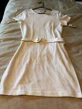Esprit Size L White NWT Short Sleeved Dress