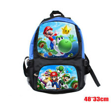 Super Mario School Student Bag Backpack Kid's Anime Shoulder Bag Laptop Rucksack