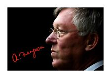 More details for sir alex ferguson 2 a4 signed photograph picture poster choice of frame