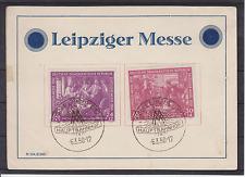 Leipziger Messe Sonderkarte SST Hauptbahnhof 6.3.50
