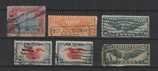U.S.A États-Unis d'Amérique années 30 air mail 6 timbres oblitérés/T2302