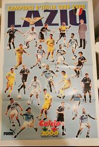 Poster Lazio Campione d'Italia Allegato Mensile Calcio 2000
