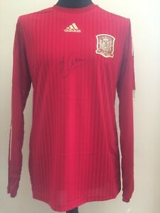 Spain Home Player Issue Spec Adizero Shirt Signed By Xabi Alonso With Guarantee