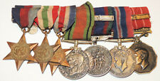 WW2 7 Medal grouping to Major George VI Canadian Forces Decoration CD+ Bar Italy