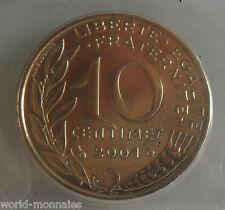 10 centimes marianne 2001 : BU : pièce de monnaie française