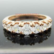 Genuine 9k Solid Rose Gold Engagement Wedding Anniversary Ring Simulated Diamond