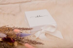 Small Luxury Gift Box, Personalized Gift Box,Bridesmaid Proposal Wedding Favour