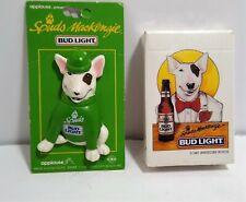 Vintage 80's Spuds Mackenzie St. Patricks Pin & Deck of Cards Sealed Bud Light