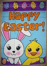 "2'x3' Happy Easter Garden Flag Bunnies Bunny Egg Christian Jesus New 24""x36"" 2X3"