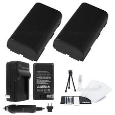 2x BP-911 Battery + Charger for Canon ES-300V 410V 6500 8000 8600 520A