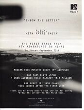 Vintage print Radio Music Promo E-Bow the letter REM New adventures in Hi-Fi