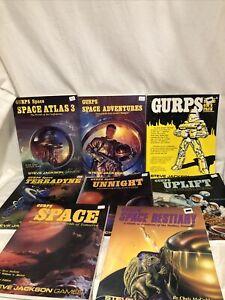 GURPS SPACE LOT new RPG Gms Atlas 3 Uplift Unnight Bestiary Terradyne
