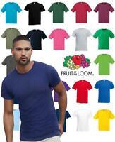 Fruit of The Loom T Shirts Short Sleeve 100% Cotton Plain Tee Men Women