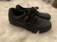 SAS Women's Oxfords Wall Easy US 8 M Black Suede Walking Orthopedic 5403