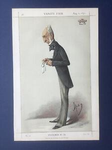 Original 1870 Vanity Fair Print of Lord Halifax - Victorian Politics