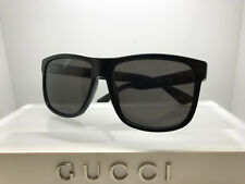 NEW GUCCI SUNGLASSES GG0010S 001 BLACK/GREY LENS 58MM