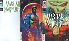MARTIAN MANHUNTER (2018)  #1 1ST PRINT BLANK & VARIANT 3 COVER SET NM
