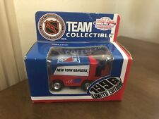 New York Rangers 1996 Zamboni 1:50 Scale White Rose Collectible NHL Diecast Car