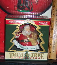 COCA COLA TRIM A TREE COLLECTION HADDON SUNBLOOM CHRISTMAS IS LOVE ORNAMENT