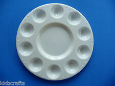 Paint Palette White Plastic 10 Well and Centre Mixing Palette