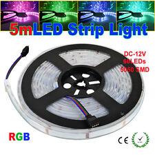 5M SMD 5050 300leds 60LED/M IP67 RGB Waterproof Strip Light+24Key IR Remote