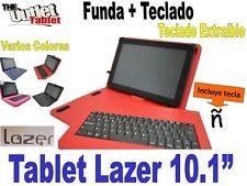 """FUNDA CON TECLADO TABLET LAZER 10.1""""  fundas TECLADO EXTRAIBLE ALCAMPO"""