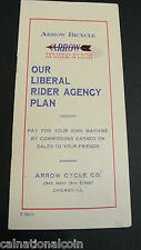 1915 Arrow Bicycle Liberal Rider Agency Plan -Sales of Arrow Bikes