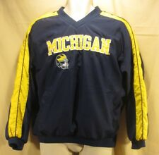 Reebok Boys/Kids Blue MICHIGAN Lightweight Pullover Jacket Sz-Large (14-16)