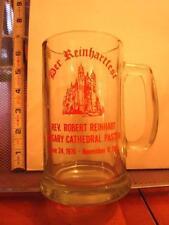 ROBERT REINHARDT glass mug Rosary Cathedral 1976-1981 beer stein Catholic