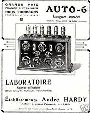 """Publicité Ancienne """" AUTO - 6 André HARDY   1935 """""""