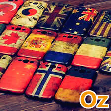 Stone-washed National Flag Case for HTC One X9, Painted Cover Retro