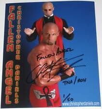 TNA CHRIS DANIELS SIGNED LIMITED TO 50 GLOSSY PHOTO WITH PROOF