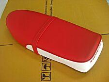 """HONDA C70 C90 SEAT """"RED-WHITE"""" PLASTIC PAN     (bi)"""