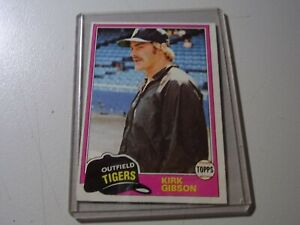 1981 KIRK GIBSON ROOKIE RC MINT TOPPS #315 - Gorgeous Card!! Tigers