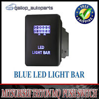 LED Light Bar Push Switch For Mitsubishi Triton BLUE Light MQ Pajero Mirage 12V