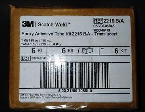 3M Scotch-Weld Epoxy Adhesive 2216 Translucent Part B/A, 2 fl oz Kit, 6 per case