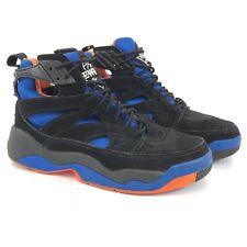 Patrick EWING Image VENT Shoes Mens Size 9 Basketball Sneakers Black Blue Orange