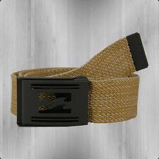 Billabong logística webbing Belt tela cinturón marrón claro de tela cinturón