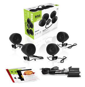 BOSS Audio Systems MCBK470B Weatherproof Speaker/Amplifier Sound System, Bluetoo