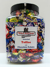 WALKERS NONSUCH Assorted Toffees & Chocolate Eclairs Jars 1.2kg- Birthday Gift