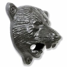 10 Grizzly Bear Wall Mounted Beer Bottle Cap Opener | Black Vintage Durable