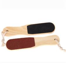 Foot Rasp File Callus Dead Skin Remover Pedicure Scrubber Wooden Handle 2 Sideds