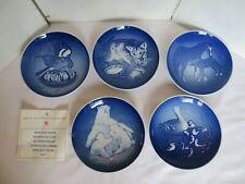 Bing & Grondahl Mother'S Day Plates Set of 5 Mars Dag 1970-74