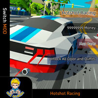 Hotshot Racing(Switch Mod)-Max Money/Parts/Unlock All Color and Outfits