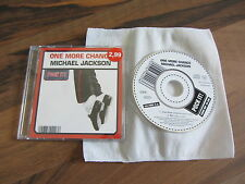 """MICHAEL JACKSON One More Chance LIMITED 2003 GERMANY only 3"""" CD single live"""